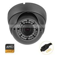 Wholesale 12mm Dome Cctv Camera - CCTV AHD 2.0MP HD 1080P 2.8-12mm Zoom Lens IR-Cut Metal Dome Camera OSD