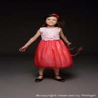 Wholesale clothe girl free shipping resale online - Pettigirl Red And White Girls Lace Embroidered Dress With Bow Cotton Promotion Girls Flower Dress Kids Clothing GD40814
