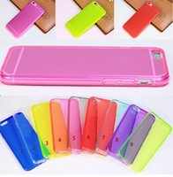 Wholesale Iphone 5c Slim Rubber Case - New Thin Slim Transparent Clear Colorful Soft Silicone TPU Rubber Case Cover For iPhone 6 6+ 5S 5C 4S Galaxy Note 4 3 2 S5 S4 MOQ:50pcs