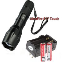 Wholesale Ultrafire Lm - E17 CREE XM-L T6 2000 LM High Power Torch Zoomable LED Flashlight Torch Light + 2pcs 18650 Battery + Charger
