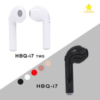 Wholesale 2017 HBQ I7 TWS Twins Mini Bluetooth Earbud Wireless Invisible Headphone Headset with Mic CSR4 Stereo Blurtooth Earphone