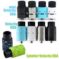 Wholesale Mechanical Mod Drip - New mini Velocity Splatter RDA Mods Rebuildable Atomizers Adjustable Airflow PEEK Insulator Bore Dripping 510 Thead Mechanical Mod Vapor DHL