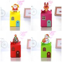 Wholesale paper snowman - Dust Proof Packing Box Santa Claus Snowman Christmas Trees Elk Design Gift Wrapping Paper Safe Non Toxic Candy Cases 0 26hd B