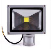 levou sensor de movimento flood lights venda por atacado-Frete grátis 10 W PIR Sensor de Movimento LEVOU luz de Inundação Indução Sense lâmpada Floodlight AC 85 ~ 265 V iluminação LED