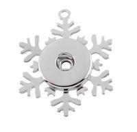 Wholesale frozen jewelry resale online - Vintage Noosa Frozen Snowflake Pendant Necklace chunks snap button jewelry DIY Necklace Snap Button Bracelet Interchangable Jewelry