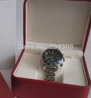 синие мужские часы оптовых-Новый море Chrono коаксиальный кварцевые мужские часы 2599.80 роскошный браслет из нержавеющей стали синий мужская дата наручные часы оригинальный футляр