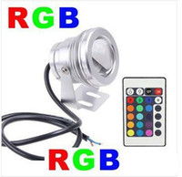 10W RGB Flood éclairage sous-marin conduit aquarium lampe piscine 1pcs étanche IP65 DC 12V 110V 220V Convex Lens Expédition gratuite / lot