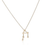 Wholesale Libra Chain - 10pcs lot 2015 New Gold and Silver Libra Zodiac Sign Astrology Necklace Constellation Jewelry Astrology star Sign necklace XL155