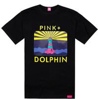 ingrosso magliette di marca del sole-Rising Sun Sail rosa magliette delfino famoso marchio tees streetwear hip hop t-shirt estate vendita calda abbigliamento rock cotone, spedizione gratuita tee