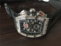 Wholesale diamond oval for sale - Group buy New arrival men s sport watch top brand quality luxury watches mechanical wristwatch skeleton dial diamonds bezel black rubber strap