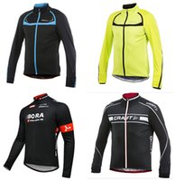 Wholesale Cycling Jersey Craft - Wholesale-2015 new craft Winter Thermal Fleece windproof sportswear long sleeve jersey cycling jacket mountain bike clothing