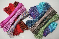 Wholesale Camouflage Paracord - Paracord Parachute Cord Lanyard 7 Strand Rope For Paracord Bracelet Outdoor Bracelet Paracord 10FT pcs 10Pcs lot Mixed Camouflage Colors