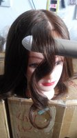 """Wholesale Doll Mannequin Head - Wholesale 100% Human Hair Mannequin Head 18"""" Dark Brown Great Quality Natural Hair Hairdressing-Dolls-Head For Beauty Salon"""
