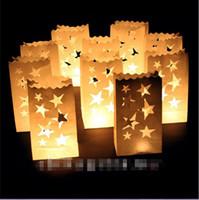 Wholesale Small Paper Lanterns Wholesale - Hot Sales Retro Style White Paper Candle Lantern Bags Wedding Party Favor