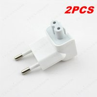 Barato Usb Wholesale Europe-Atacado - 2PCS de alta qualidade Wall AC Destacável Europe EU Plug Head duckhead para macbook pro para iPad Air Power Adapter USB Carregador branco