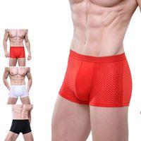 Wholesale Comfortable Underpants - Creative 2016 New Underpant Mens Sexy Mesh Boxers Breathable Underwear Comfortable Boxers Men