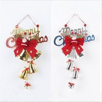Barato Sinos Decorativos De Plástico-1PCS Hot Plastic Christmas Decorativo Bell Perfect Christmas Tree e Display Windows Decoração Duas cores opcionais