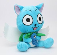 Wholesale ems shipping figure for sale - Group buy 12 quot Japanese Anime Cartoon Fairy Tail Plush Toys Cute Happy cm Dolls Stuffed Figure Toys EMS