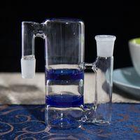 bong downstem бесплатная доставка оптовых-Высокое качество 14.5/18.8 мм В и из стекла сетчатый фильтр стиль Ashcatcher Downstem для стекла Бонг стекла водопровод бесплатная доставка