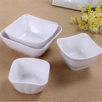 Wholesale Square Melamine - Exquisite Dinner Bowls Cheap Dinnerware Dinner Bowls Beautiful Dessert Bowls Melamine Material Square Design For Sale