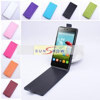 Wholesale Original Thl - 2015 Original Leather Case For THL 5000 In Stock Up-Down Style Black White Rose Skyblue Orange Pink Multi 9 Colours Optional.