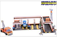 block shipping services - Ausini Car Service Station Building Blocks Assembling Blocks Hot Toy Educational Bricks Kid s Toy Gift Compatible