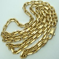 Wholesale mens necklace length - 18K 18CT Gold Filled Mens 3.5mm width 50 60 70cm Length Chain Necklace N286