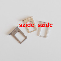 Wholesale Sim Card Slot Tray - 300pcs lot Original New Sim Card Tray Holder Slot Replacement Part for iPhone 5S Gold Gray Silver Wholesale