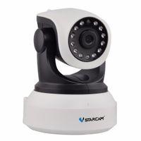 Wholesale Tilt Hd Ip Camera - Vstarcam C7824WIP Onvif 2.0 720P IP Camera Wireless Wifi CCTV Camera HD Indoor Pan Tilt IR CUT Night Vision Support 64GB Card