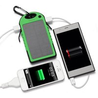 Wholesale High Quality Solar Charger - High Quality 5000 mAh Safe Li-polymer Portable Solar Charger Power Bank With Retail Package Waterproof Shockproof 2015 Hot