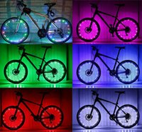 Bike Spoke Rim Light Bicicleta Rueda Rueda de luz Rueda Luz 20 LEDs 2m Cable LED Modo intermitente Rojo Blanco Azul Rosa Verde Colorido