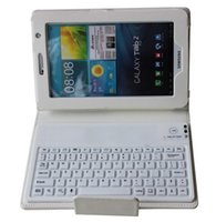 """Wholesale Leather Flip Case Keyboard Bluetooth - Wholesale-Brand Wireless Bluetooth Flip Magnetic Stand Leather Keyboard Case Smart Cover For Samsung Galaxy Tab 3 7"""" P3200 P3210 T210 T211"""