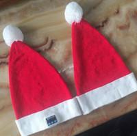 Wholesale Headset Decorations - Wireless Bluetooth Christmas Beanies Sport Music Hat Smart Headset Cap Warm Winter Santa Claus Hat For All Smart Phones CCA8055 50pcs