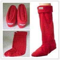 Wholesale Thigh High Socks Sales - 2017 RED SOCKS HUNTER RAINBOOTS HIGH RAIN SHOES WELLY FLEECE WOMEN OR MEN SOCKS THIGH HIGH SOCKS HUNTER BOOTS SALE