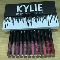Wholesale lip gloss dropshipping - Dropshipping in stock Kylie Matte Lipstick Set of 12 colors Liquid lipstick High-quality Lip Gloss Set