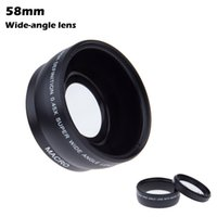 Wholesale 58mm Wide Angle Lens - New Arrival 58MM 0.45x HD Wide Angle Lens with Macro Lens for Canon Nikon Sony Pentax 58MM Camera ZM00076