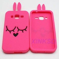 Wholesale Cover Case Galaxy Trend Duo - Rabbit Silicon Back Cover Cases For Samsung Galaxy Core Prime G360 Grand Prime Trend Duos A7 A8 A3 A5 J7 J5
