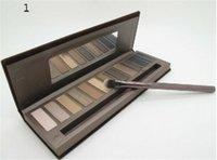 Wholesale Smoke Palette - 1pcs The new beauty 12 color eyeshadow Palette Makeup Smoked eye shadow Waterproof on the makeup eye shadow