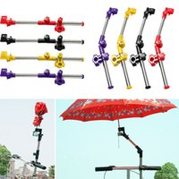 Wholesale Steel Wheelchair - Wholesale-New motorcycle Bike Bicycle Wheelchair Stroller Chair Umbrella Connector Holder Mount Stand Stainless steel umbrella stand