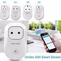 Wholesale Smart Home Switches - Orvibo S20 Smart Wi-Fi EU AU UK US Socket Intelligent Home Control Automation Wireless Timer Switch Wall Plug for Andoid iOS