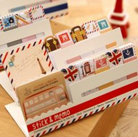 Wholesale 2015 Decoration Stationary Kawaii British Style Mini Memo Notepad note Book memo Pad sticky Notes Book Mark JIA095