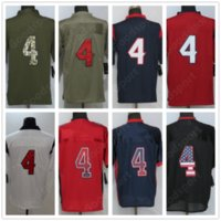 Wholesale Olive Types - New 4 Watson Olive With Name Stitched All Collections Fashion Lights Out USA Flag Army Military Type Salute Elite Limited Football Jerseys