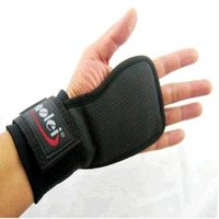 Wholesale Dumbbells Hands - Wholesale-Fitness Hand Pads Weightlifting Pull up Non-slip With Wrist Exercise Training Gym Gloves Dumbbells Fitness Gloves Free Shipping