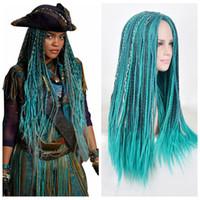 peluca atada a mano larga al por mayor-ZF Full Hand Tied Micro Braided Lace pelucas delanteras 70 CM de largo sintético pelo natural para las mujeres negras mujeres blancas