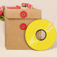 Compra Sacchetto All'ingrosso Della Carta-13 * 15cm 80pcs / lot all'ingrosso caldo singolo pezzo di Borse di CD / DVD Brown Kraft carta bianca Kraft Buste CD / DVD Packaging Borse