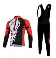 Wholesale bicicleta giant - Long sleeve GIANT cycling jersey sets Spring Autumn sport suit ropa ciclismo bicycle bicicleta clothing D gel pad