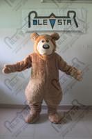 ingrosso vendite di orsacchiotto-morbido peluche pelliccia costumi mascotte orso bruno fumetto di vendita calda COSTUMI orsacchiotto POLE STAR MASCOTTE