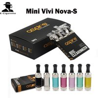 Wholesale Dual Coil Nova Tank - Authentic Mini Vivi Nova-S Glass BDC Atomizer Vivi nova-S Glassomizers Bottom Dual Coil Pyrex Glass Tank Tube 2ml Vs TFV4 Tank Triton 2