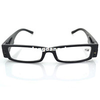 Plastic spectacle magnifiers - LED Eyewear Reading Glasses Eyeglass Spectacle Diopter Magnifier Light Up for Men Women
