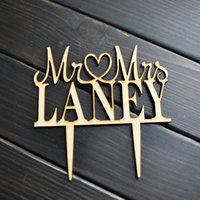 Wholesale Unique Custom Gifts - Custom name cake topper, Wooden wedding cake topper, Mr and Mrs cake topper, Unique Wedding Gift, Wooden cake topper